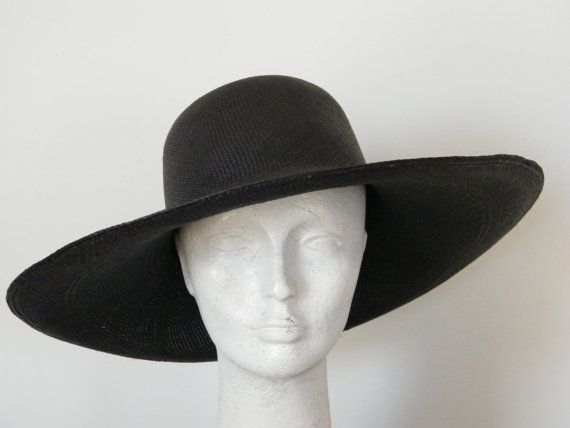 f221ab2207935 Charcoal black panama hat ladies's sun hat long by RanaHats, $150.00 |  clothing ideas in 2019 | Summer hats for women, Sun protection hat, Summer  hats