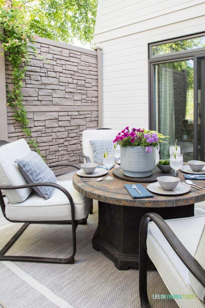 2019 Summer Home Tour Decor Rustic Outdoor Decor Outdoor Furniture Sets