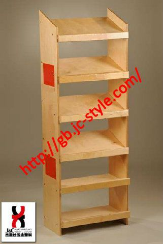 Retailed Wooden Flooring Snack Foods Display Shelf Supermarket Bread Stand Promotional Cookie And