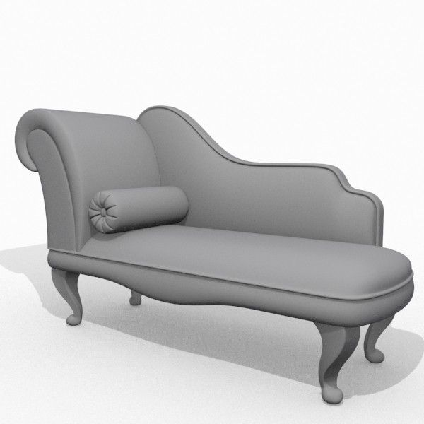 Modern Chaise Lounge | Download Modern Chaise Lounge 3D Model Available In  Max, Ma, Mb, Obj ... | *(^L0UN6IN^)* | Pinterest | Chaise Lounges, Lounge  Sofa ...