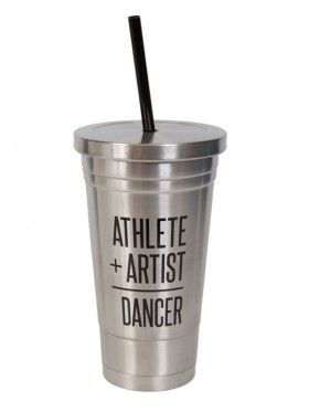 Athlete + Artist = Dancer Cold Cup Stainless Steel - Accessories | Product Categories | shop.sugarandbruno.com