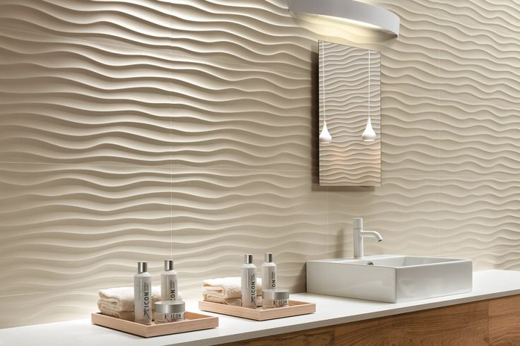 @atlasconcorde | Spectacular 3D ceramic wall tiles | 3D/WALL DESIGN | Texture: Dune Sand 40x80 cm | altasconcorde.com | Made in Italy |