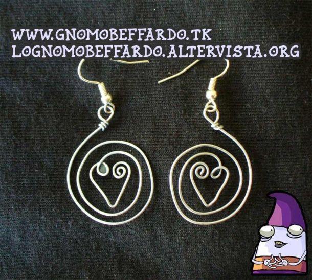 Heart craft wire earring