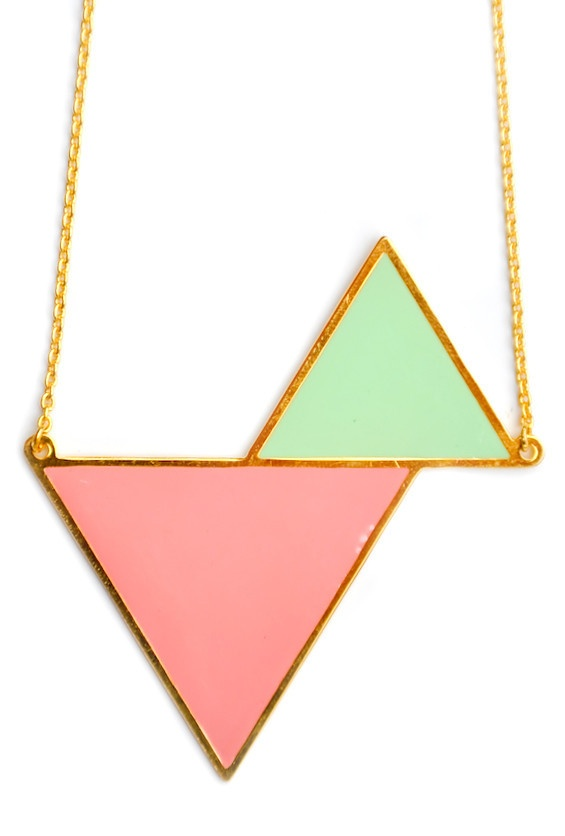 Twin Triangles Necklace