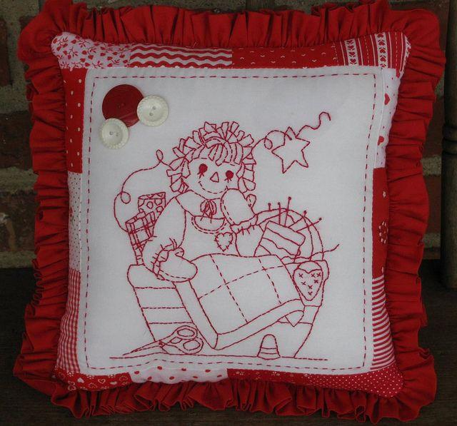Tea Towels Pillow Talk: 742 Best Redwork Images On Pinterest
