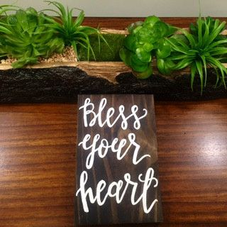 BLESS YOUR HEART, RECLAIMED WOOD SIGN