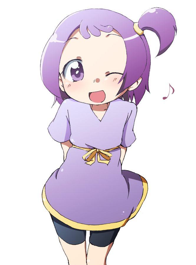Tags: Anime, Ojamajo DoReMi, Segawa Onpu, Purple Outfit, Music Note, Pixiv Id 193686