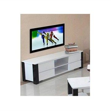 Oreon 180cm Entertainment Unit in White and Black