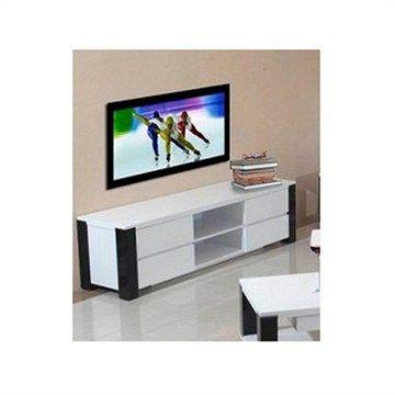 Oreon 180cm Entertainment Unit in White and Black