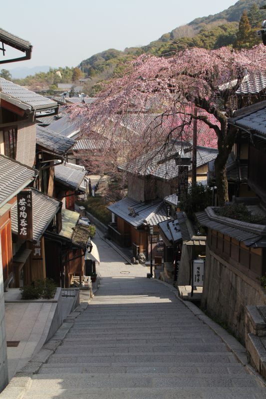 Sannen-zaka, ancienne rue bordée d'anciennes maisons en bois
