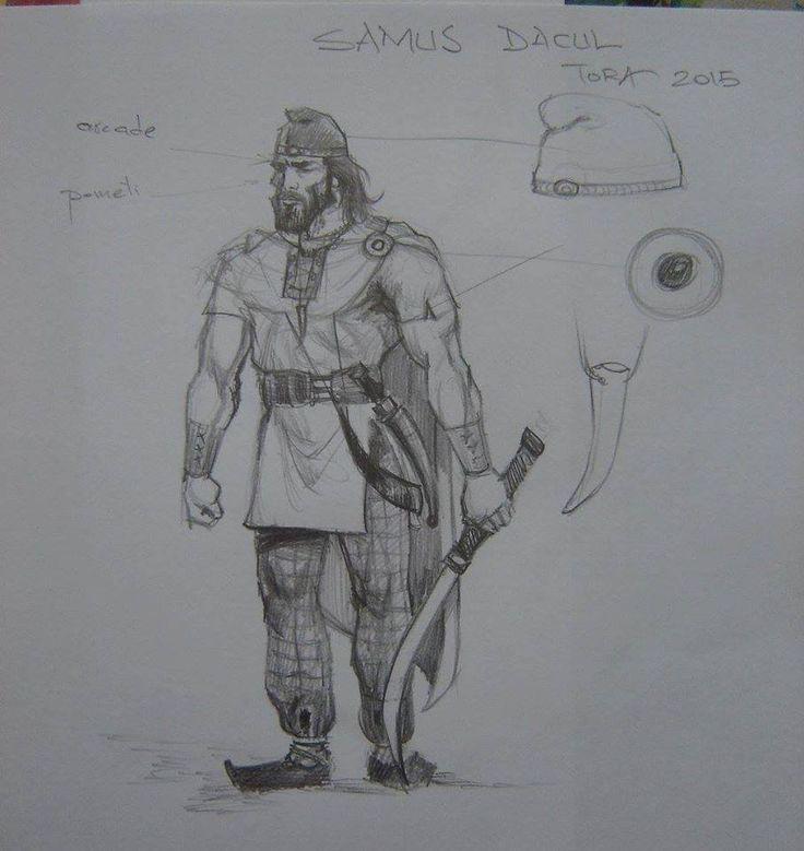 Dacian warrior illustration.