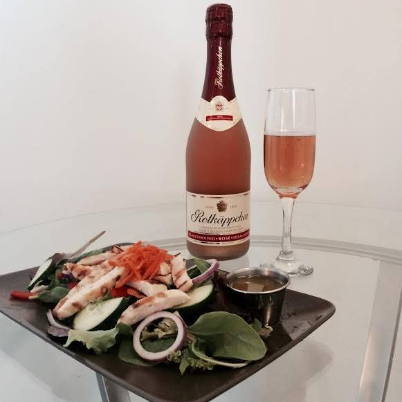 Salad with a side of Bubbly. Celebrate great ideas. #SavourTheBubbly #SparklingWine #TheRealBubbly