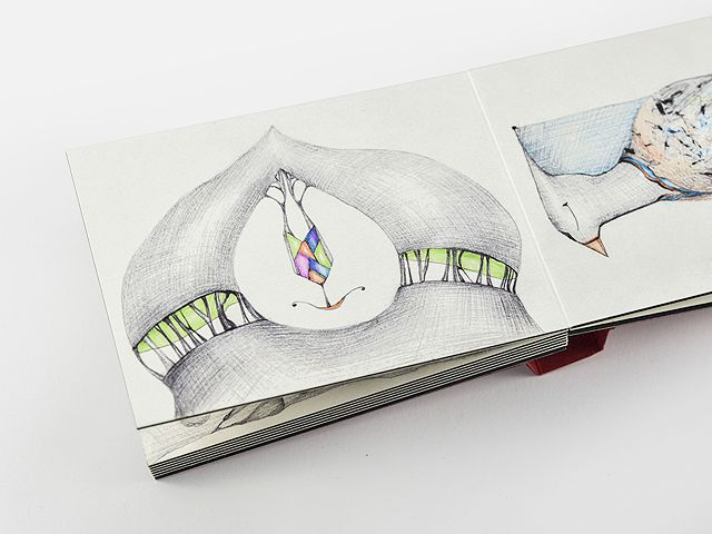 Manuela Marchis, ballpoint pen and marker 2014
