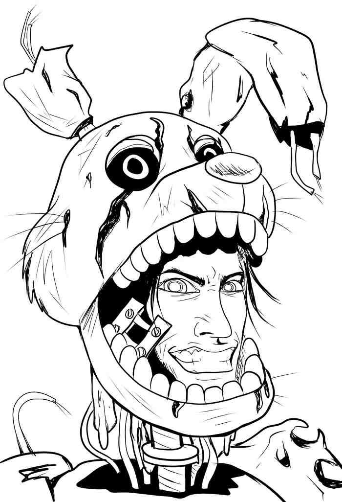 Springtrap Fnaf 6 Coloring Pages Coloring Pages Fnaf Coloring Pages Spring Coloring Pages