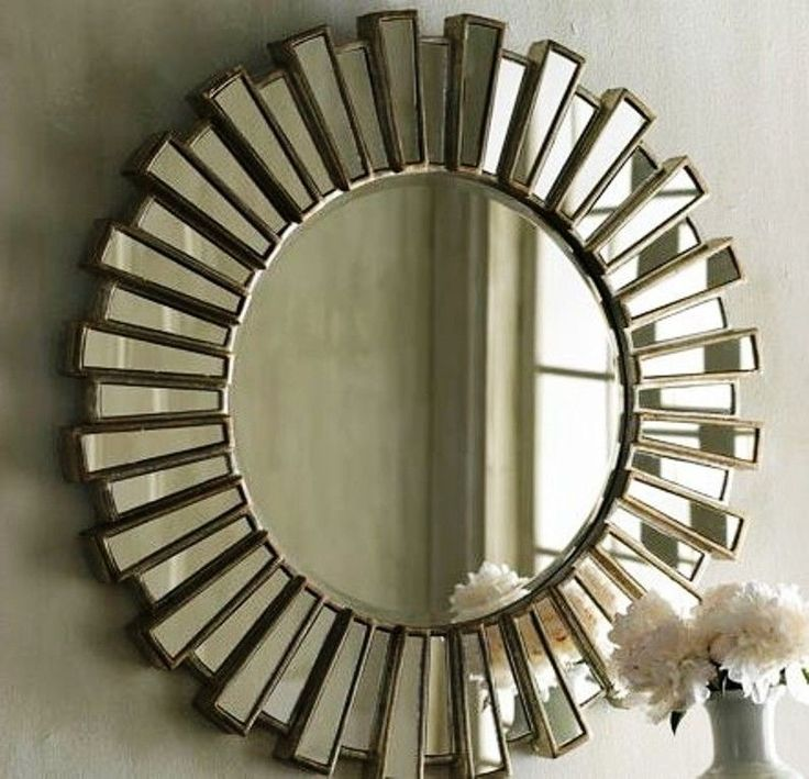 34 best images about mirrors on pinterest traditional for Large round gold mirror