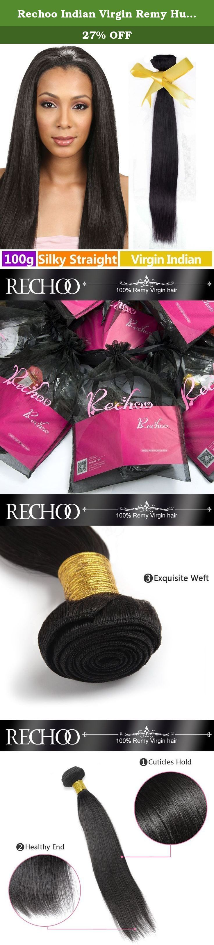 """Rechoo Indian Virgin Remy Human Hair Extension Weave 100g - Natural Black,22"""" Silky Straight. Rechoo Indian Virgin Remy Human Hair Extension Weaving 1 Bundle 100g - Silky Straight SPECIFICATION Hair Material: 100% Indian Virgin Remy Human Hair Hair Color: Natural Black Hair Texture: Silky Straight Hair Length: 10, 12, 14, 16, 18, 20, 22, 24, 26, 28 inches Hair Weight: 100g/bundle Hair Life: 6-12 months(Depending on use and care) ABOUT RECHOO HAIR Rechoo Hair is committed to offering the…"""