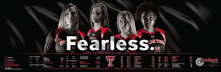 Texas Tech 2013 Volleyball Poster designed by Jared Stanley.