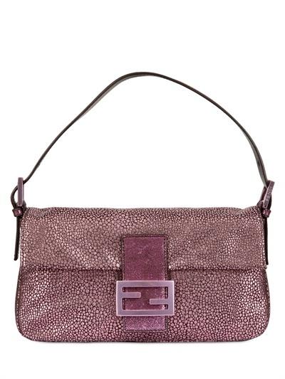 Fendi pink baguette bag