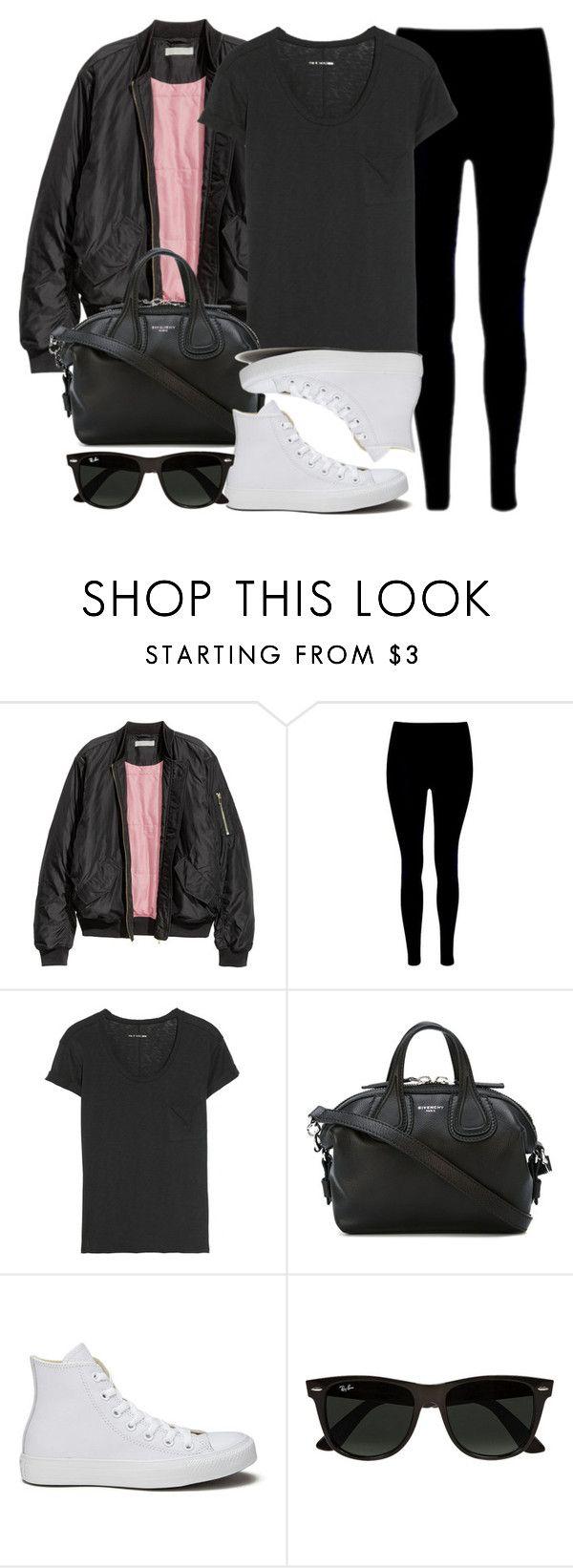 Style #11187 by vany-alvarado ❤ liked on Polyvore featuring rag & bone, Givenchy, Converse and Ray-Ban