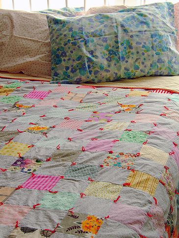 24 best Quilts that are tied images on Pinterest | Bed duvets ... : tie a quilt - Adamdwight.com