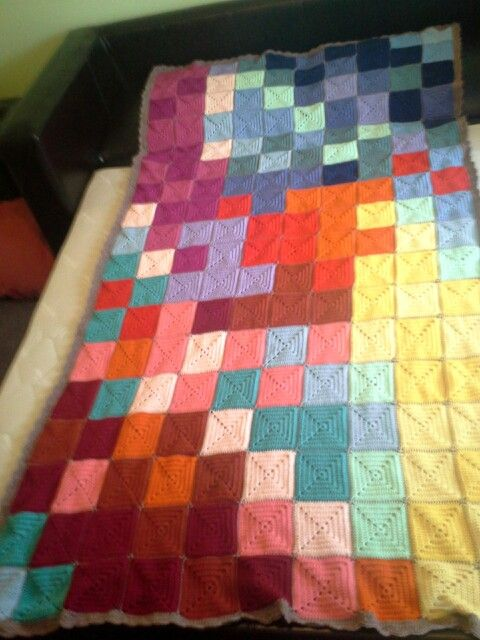 My KOGO knit one give one blanket I donated handed in at Lincraft today.