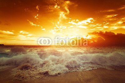 sunset on Seychelles beach ©Iakov Kalinin