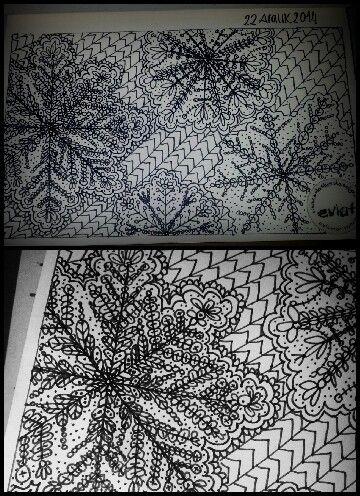 Ozlemarsoner / Evlat zengtangle, zengtangles, doodle, doodles , snowflake