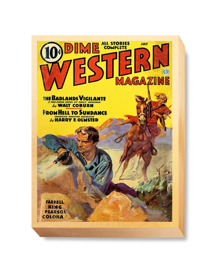 WES 022 Western Comic Cover Dime Western