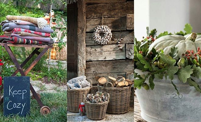 De herfst is begonnen tijd voor sfeervolle herfst decoraties in de tuin hoe wij zochten 9 - Decoratie binnen veranda ...