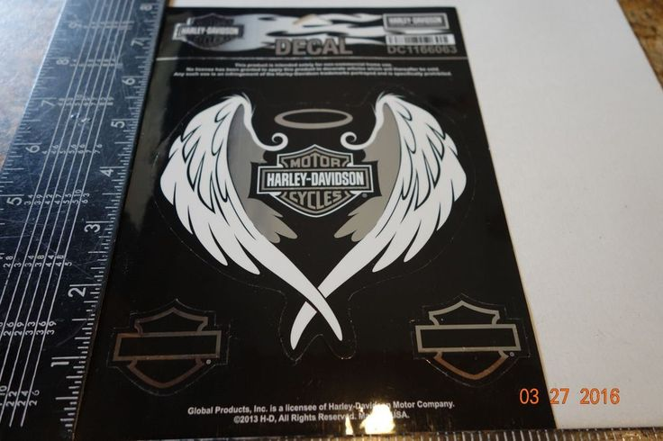 New/Authentic - Harley Davidson Decal/Sticker Harley logo between eagle wings