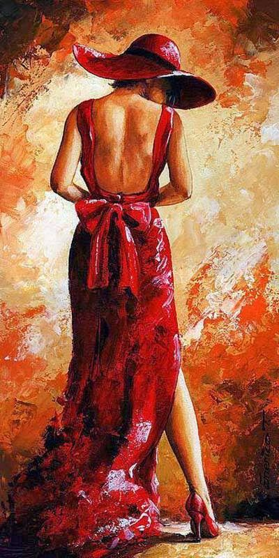 Emerico T�th ~ Lady in Red