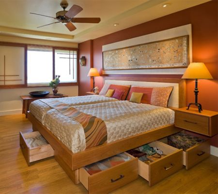 Storage ideas for a small main or master bedroom