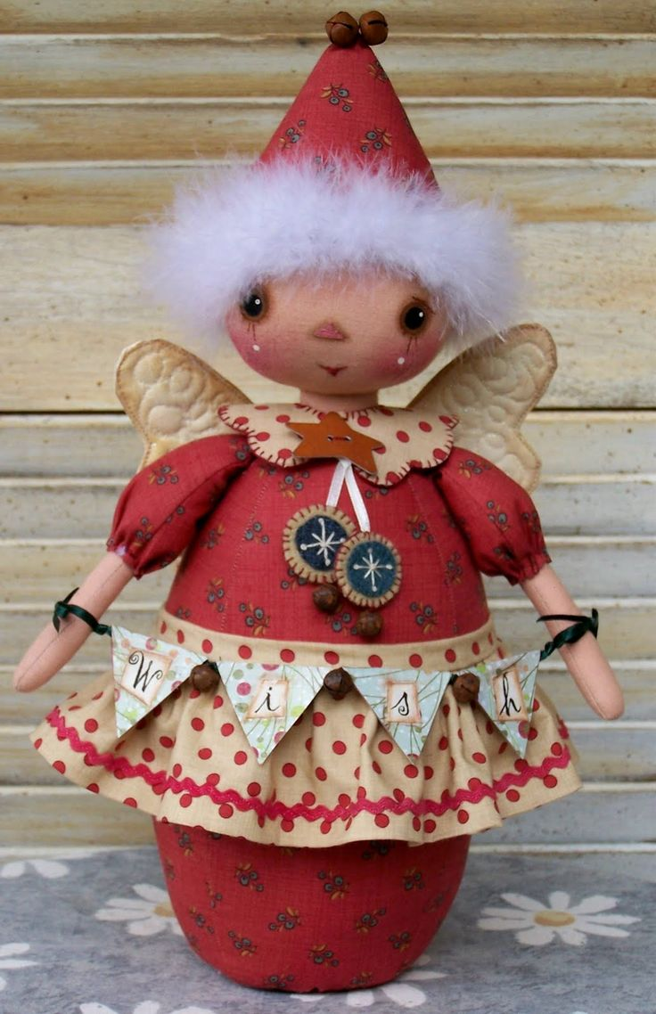"""Christmas Fairy @Country Keepsake Dolls: For all of you that have been enquiring about the pattern for the Christmas fairy, I've finally finished writing it up so she is now available. Her name is """"Wishes do come true"""" . I haven't worked out how to put links on this thing yet but at the moment she is available from www.homepatch.com.au  ..."""