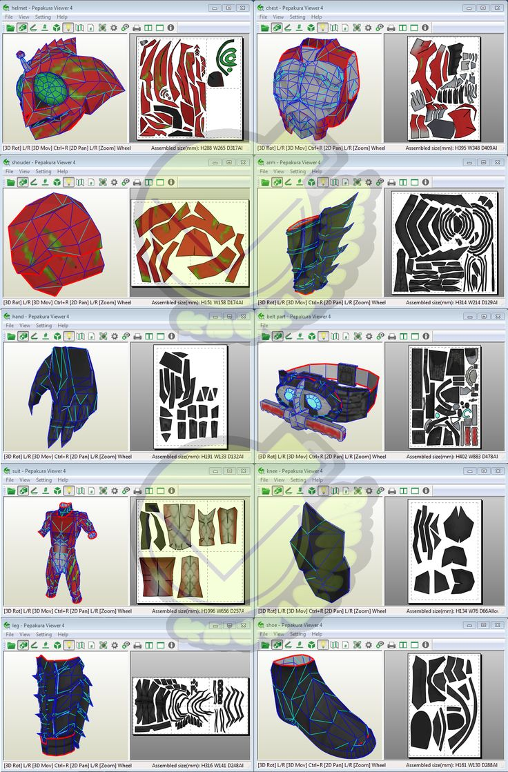 Kamen Rider Amazon Alpha Costume Template / Pattern Pepakura 3d Model