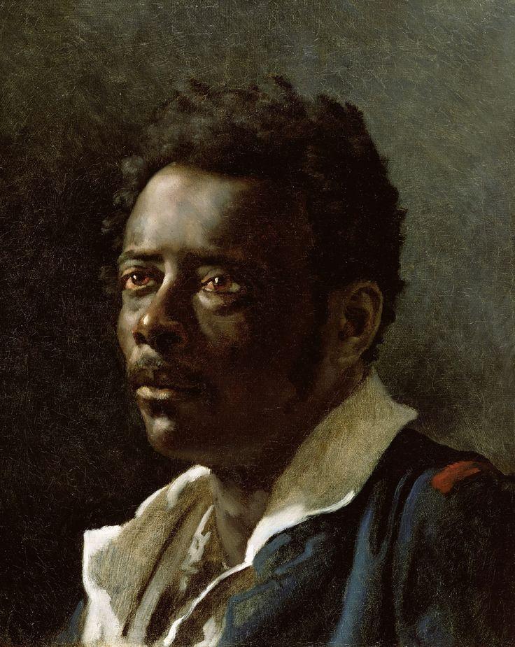 Theodore Gericault, Portrait Study, c.1818-19  19th Century French Artist. Has macabre stuff too.