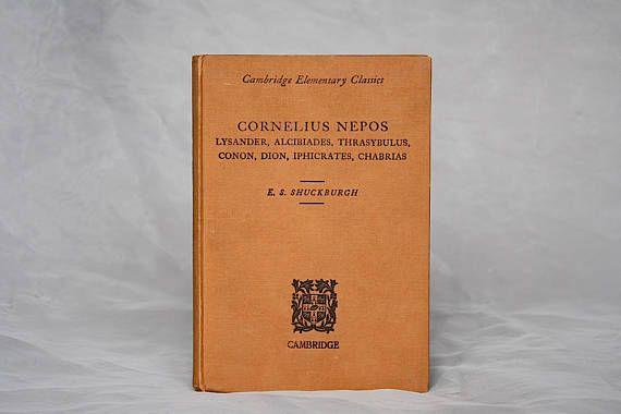 Cornelius Nepos Lives  Nepos in Latin  Vintage Latin Book