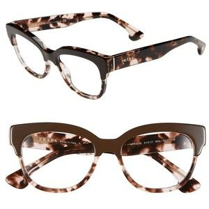 Prada 51mm Optical Glasses (Online Only) Brown One Size