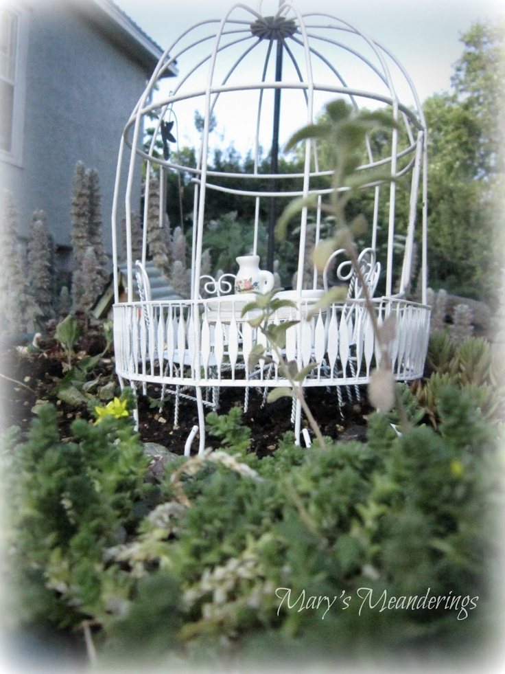 26 best images about bird cages in the garden on pinterest for Garden cage