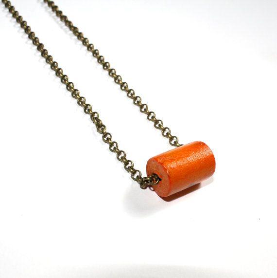 Vrolijke+oranje+ketting++cadeau+handgemaakt+hout+door+JorRainbow,+€15.00