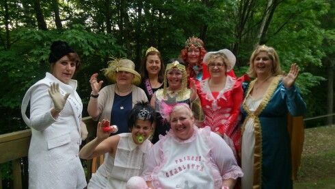 Girls weekend at Sunny Point Resort and this year's theme was Royalty www.sunnypointresort.com