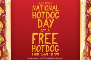 FREE Hot Dog at Kangaroo Express July 23 on http://www.icravefreebies.com