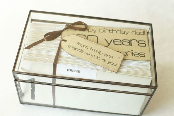60th birthday gift idea.  Letters from friends!
