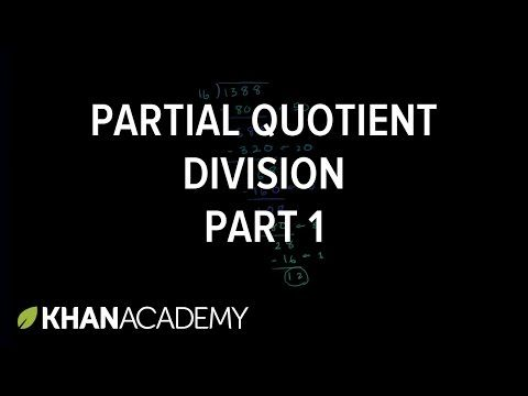 Partial quotient method of division   Strategies for multiplication and division   Chapter 13: Ways to multiply and divide   Grade 5 (NCERT)   Khan Academy