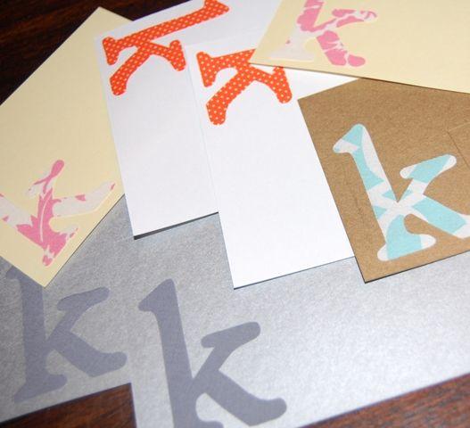 LOVE!!: Diy Crafts, Birthday Parties, Initials Notecard, Fabrics Initials, Www Modernfril Com, Diynotecard Modernfril, 2014 Modern Frill, Initialnotecard Diynotecard, Teachergift Initialnotecard