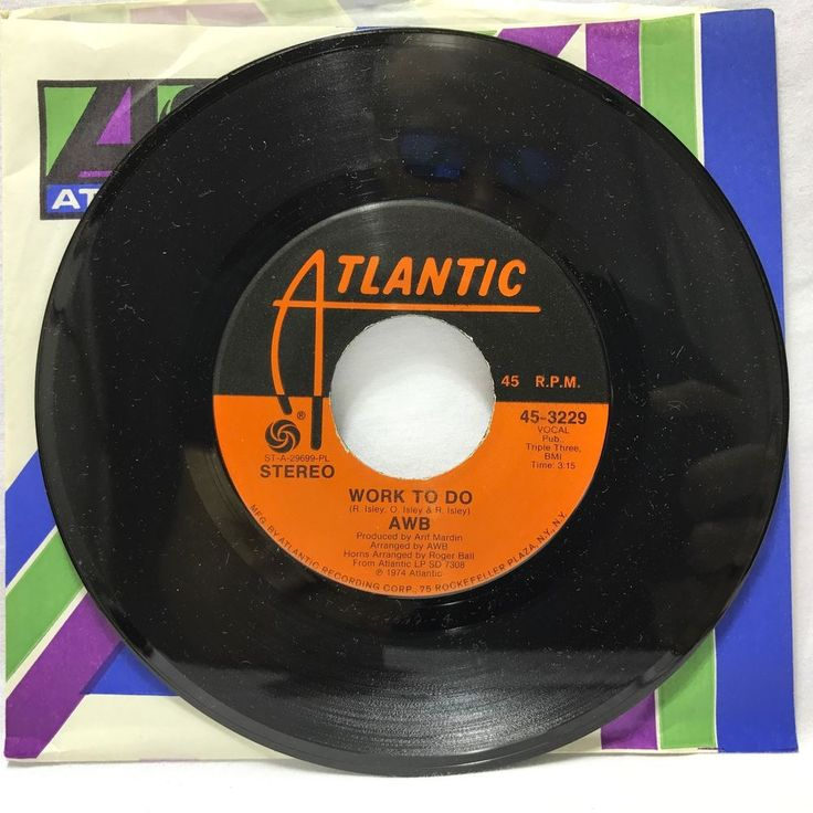 Average White Band Pick Up The Pieces/Work to Do ATLANTIC 3229 Mod SOUL/Instro