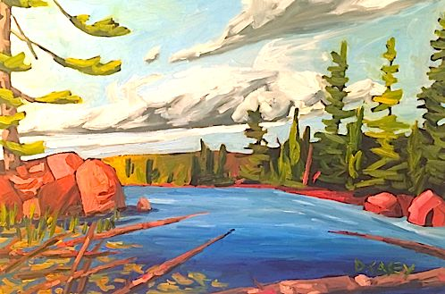 Algonquin Shore by David Casey. Ottawa artist, Canadian artist, landscape art, SANTINI GALLERY.