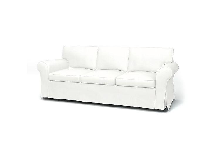 Ektorp, Sofa Covers, 3 Seater, Regular Fit Panama Cotton Absolute White