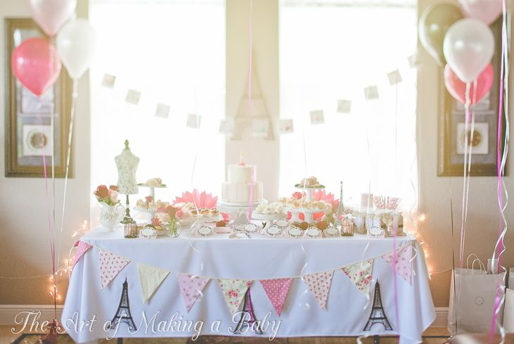 A beautiful French themed 1st birthday party | by The Art of Making a Baby