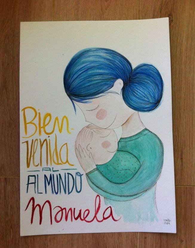 vireta: Bienvenido al mundo - acuarelas para bebé