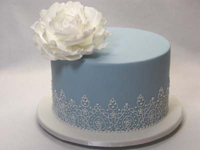 89 best One Layer Wedding Cakes images on Pinterest | Square shaped ...